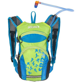 SOURCE Spry fietsrugzak 1,5L Kinderen, light blue/green